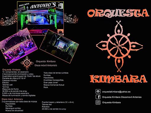 Orquesta Kimbara en tus fiestas patronales